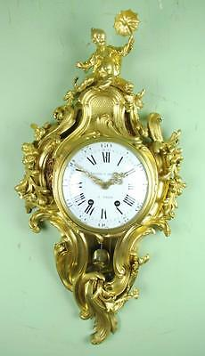 EXCEPTIONAL FRENCH CARTEL WALL CLOCK - Superb original condition