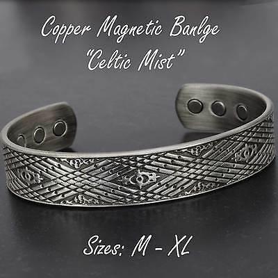 Mens Copper Magnetic Bracelet for Arthritis Natural Therapy and Pain Relief -CMP