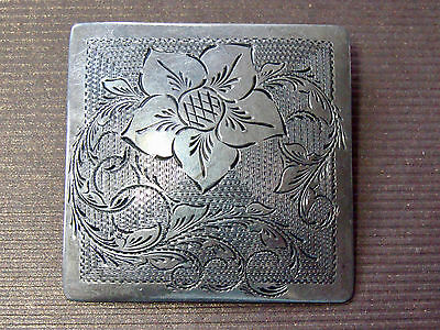 "Fine Older Engraved Jw Wolfe Usa Hand Made Sterling Silver 1.2"" Button"