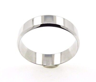 [See Video] 9ct White Gold Mens - Gents Wedding Ring Band Size S (00228)