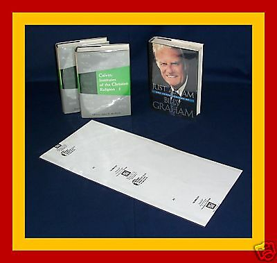 """10 pack 9 1/2""""H x 20""""W Brodart Fold-on Book Jacket Covers - Lo-Luster Mylar"""
