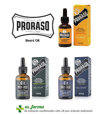 Proraso Aceite Oil Huile Barba Beard Barbe Wood Spice Cypress Vetiver Azur Lime
