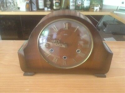 VINTAGE SMITHS Enfield LANGLEY WESTMINSTER CHIME MANTEL CLOCK Full Working Order