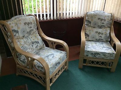 Two conservatory arm chairs, Tivoli design.Covers Hemlock Slate.