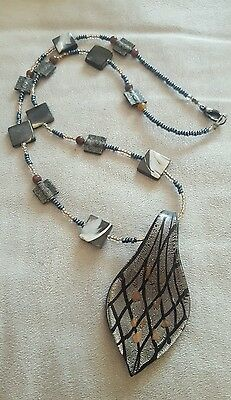 Anishinaabe/Native Canadian Glass Featured Beaded Necklace