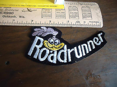 Road Runner  .N.O.S.Hat or Jacket patch 1990s mint