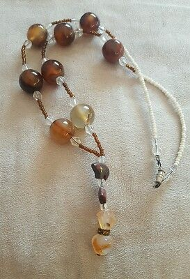 Anishinaabe Amber Bear Necklace