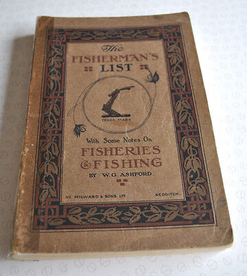 A Rare Vintage Milwards Advertising Fishing Catalogue Fisherman's List Circa1910