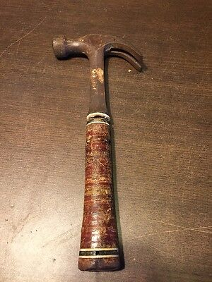 Vintage Estwing 20 OZ Leather Stack Grip Ring Claw Hammer ~ Rockford ILL