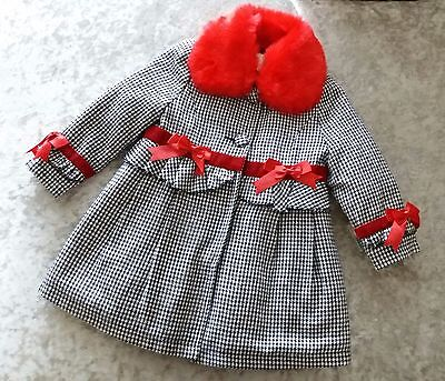 COUCHE TOT Girls faux fur/houndstooth dress & jacket Spanish/Romany 1-8 Years
