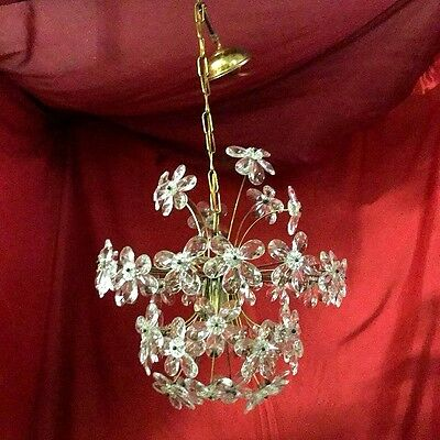 Italian Murano Crystal Floral Chandelier