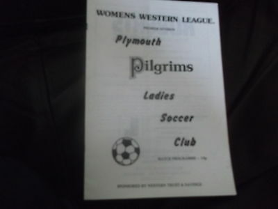 Plymouth Pilgrims V Tiverton Towwn Womens Fa Cup 2Nd Round 2Nd December 1979