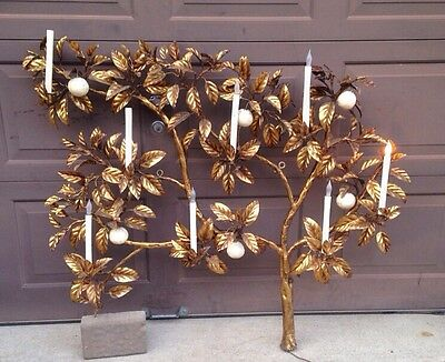 Large Tree Sculptural Wall Sconce 8 Electric Light Fixtures