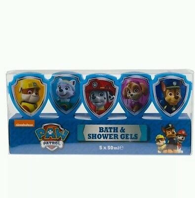 Paw Patrol Bath and Shower Gels Gift Set 5 x bubblebath fun kids Xmas gift