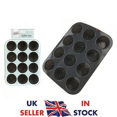 12 Mini Muffin Cup Silicone Cookies Cupcake Bakeware Pan Tray Mould
