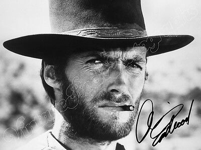 CLINT EASTWOOD  - print signed photo - foto con autografo stampato