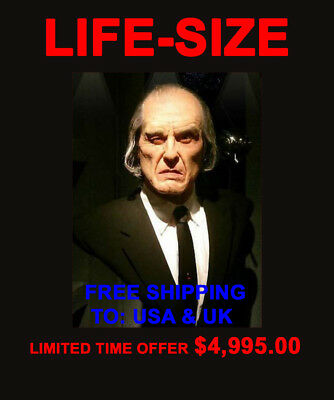 PHANTASM ANGUS SCRIMM BUST SPHERE SIGNED used Tall Man movie prop screen ball