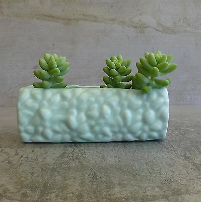 Vintage Diana Pottery Small Trough Vase or Small Planter Pastel Green 14.6cmLong