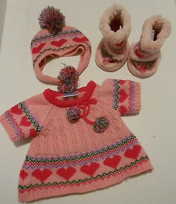 Build A Bear 4-piece Pink Winter Outfit
