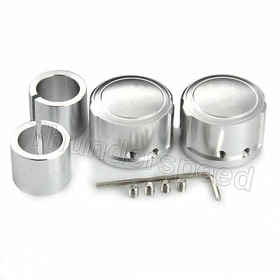 2x Silver Tyre Axle Cover Nut Rim Cap Logo For Harley Touring FLTR XL883/1200