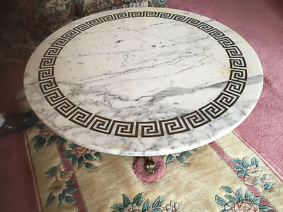 Italian made vintage antique Round Mable coffee table - with secret compartment