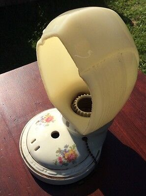 Antique Vintage Porcelain Ceramic Bathroom Light Fixture With Shade Stunning