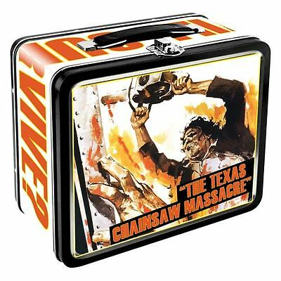 Texas Chainsaw Massacre Metal Collectible Lunch Box NEW Horror Leatherface Gein