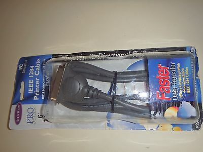 Belkin Pro Series 6' IEEE I284 Printer Cable DB25 Male/Centronics 36 Male 701473