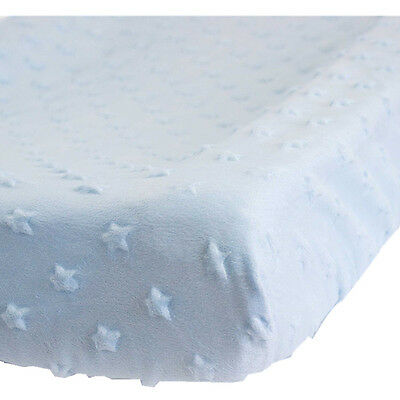[3 Sets] KIDZ KISS Nursery Essentials Sherpa Change Mat / Pad Cover [Blue]