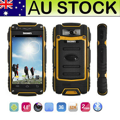 """4"""" Rugged 3G Android Smartphone Unlocked Shockproof Dual Core Discovery V8 Phone"""