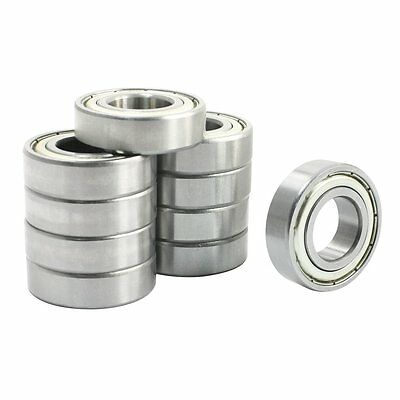 10 Pcs 6003Z Single Row Shielded Deep Groove Ball Bearings 17x35x10mm DT