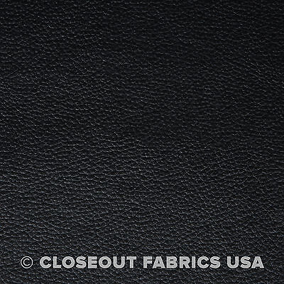 """Black Vinyl Fabric Faux Leather Auto Upholstery Pleather 54""""W"""