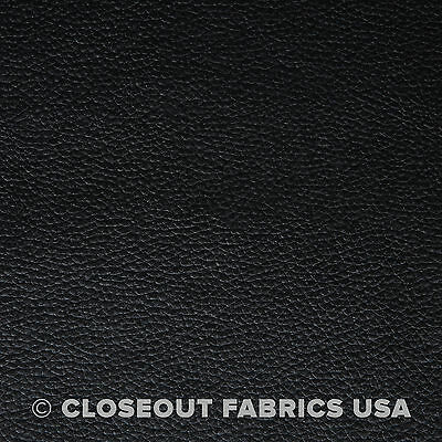 Black Vinyl Fabric - Faux Leather - Auto Upholstery Pleather Fabric