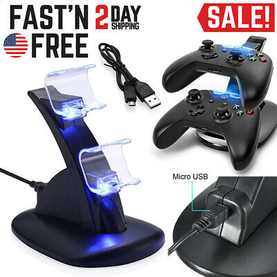 For PlayStation PS4 Dual Controller Charger Dock Station USB Fast Charging Stand