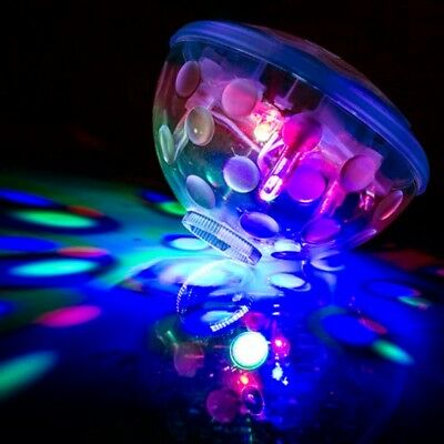 Underwater Light Show Disco Ball, Bath, Pool, Spa, Hot Tub, Floating Light MED