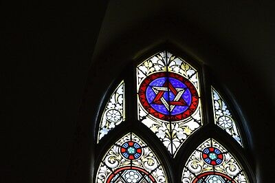 Antique Stained Glass Church Windows 1850's unaltered