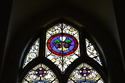 Antique Stained Glass Church Windows 1850's