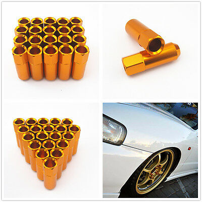 20 Pcs Open Mouth M12 x 1.5MM Aluminum Tuner Wheel Extended Long Lug Nuts