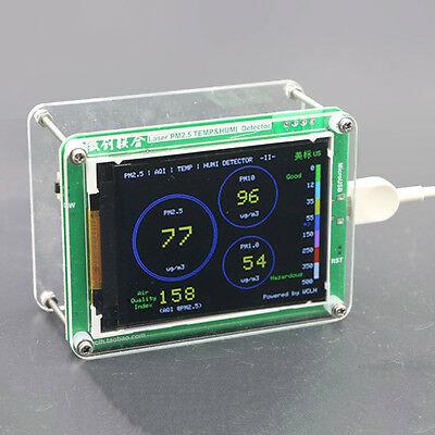 PM2.5 Home Monitoring Detector  LCD Air Quality Haze Dust TFTMeasuring Sensor