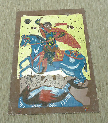 Reproduction Antique Orthodox Christianity Painted Painting Russian Icon 3-