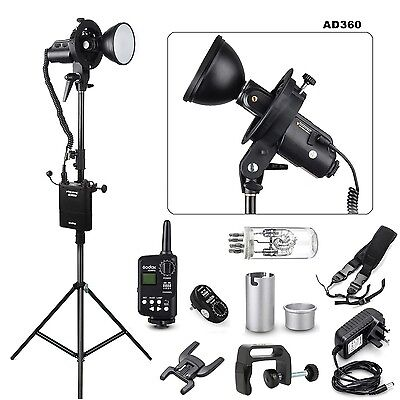 Godox AD360 & PB960 Portable Flash light  + Ft-16 Trigger + Bracket +Light stand