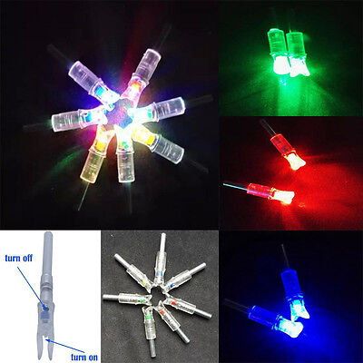 9/3Pcs New Automatically Bowstring Activated lighted LED Arrow Nock for Crossbow