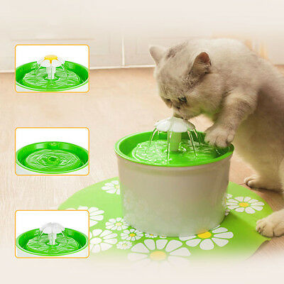 New Automatic Cat Dog Kitten Water Drinking Fountain Pet Bowl Drink Dish Filter