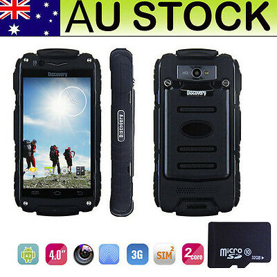 """4"""" Factory Unlocked 3G Android Discovery V8 Rugged Smartphone Dual Sim Phone+32G"""