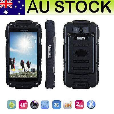 "3G Unlocked Android Smartphone Dual Core 4GB Dual SIM Discovery 4.0"" Black Phone"