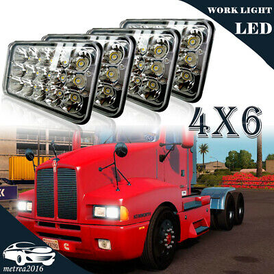 "4x6"" LED Headlight For Peterbilt Rectangular Kenworth T800 T400 T600 W900B W900L"
