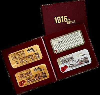 Australia - 2016 - Centenary of WW1 1916 Gold Minisheets Collection - Limited Ed