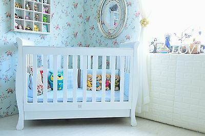 Bubs Gallery 3 in 1 Sunshine  Sleigh Cot crib Toddler Bed with Drawer & Mattress
