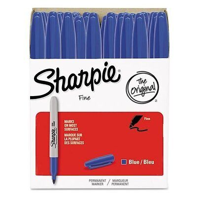 Sharpie Permanent Markers, Fine Point, Blue, 36-Pack (1920932)