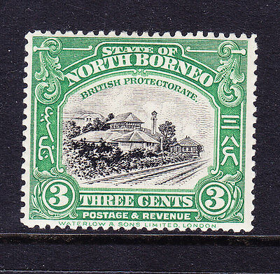NORTH BORNEO 1923 SG163 3c green & black - perf 14 - mounted mint. Catalogue £55